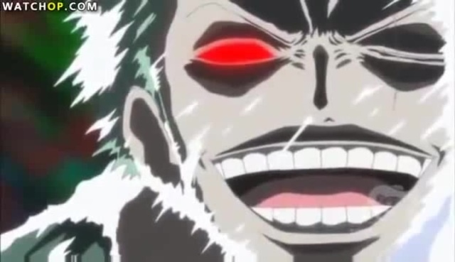 One Piece funny scene - Luffy, Zoro and Robin scary faces