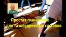 Простая гимнастика для тазобедренных суставов