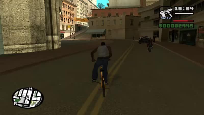 [AshKing] ФРИРАЙД искусство в GTA SA, о котором никто не знал до сих пор | велосипед BMX трюки и обучение