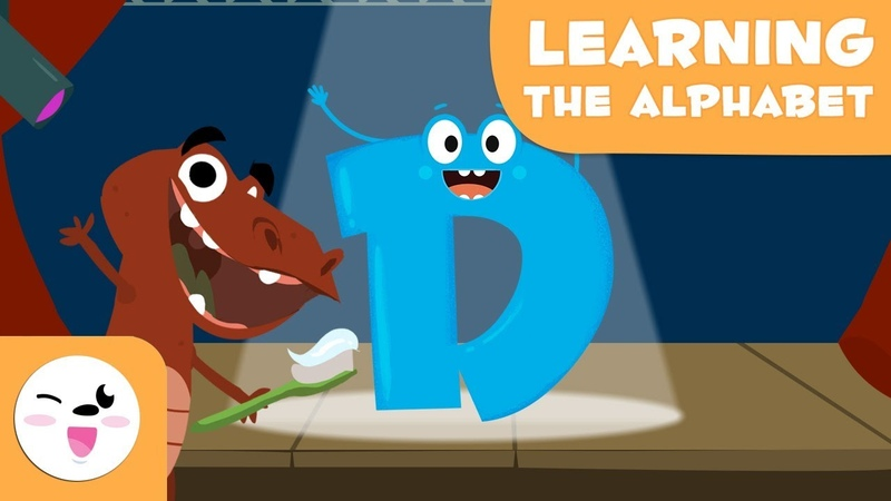The letter D Educational video to learn the consonants