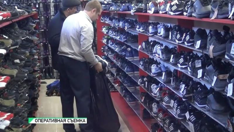 В крупном ТЦ Бийска изъяли контрафактную обувь Будни 21 03 19г Бийское телевидение