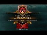 Diablo 3 GR150 4 Players Rank 1 EU ( 1253 - Barb PoV )