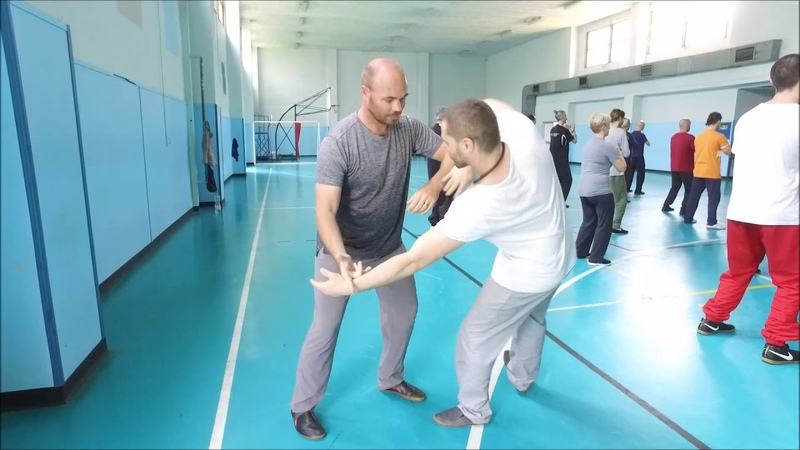 Pushing hands with Sifu Adam Mizner - Milano 2018