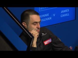 Концовка матча между Ронни О'Салливаном и Джеймсом Кэхиллом - Чемпионат мира 2019
