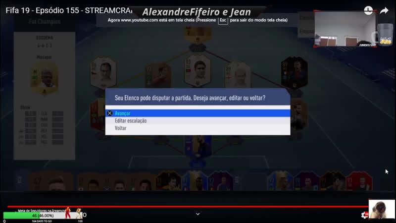 Fifa 19 Epsódio 154 STREAMCRAFT canal Alexandre FIFEIRO