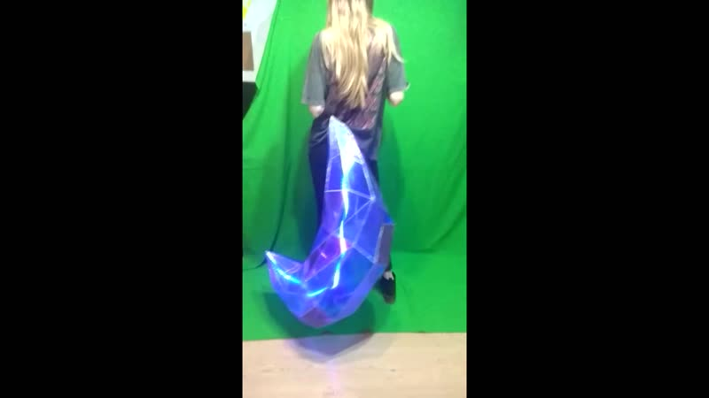KDA Ahri tail (backlit in motion). League of legends.