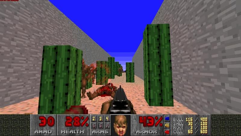 Елена-старшая играет в Doom 2 на какой-то карте часть 2