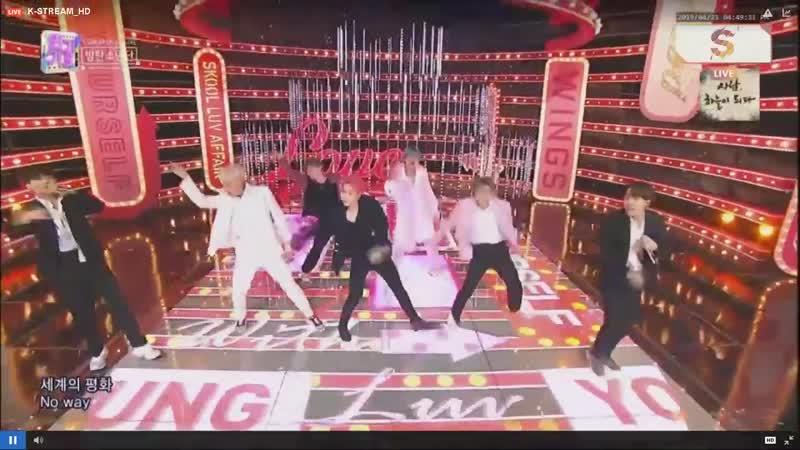 [LIVE] BTS Dionysus Boy With Luv @ SBS Inkigayo