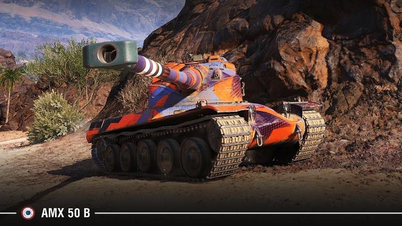 AMX 50 B выполняет ТТ 15 на Об.260 с отличием 10к урона на Эль Халлуфе