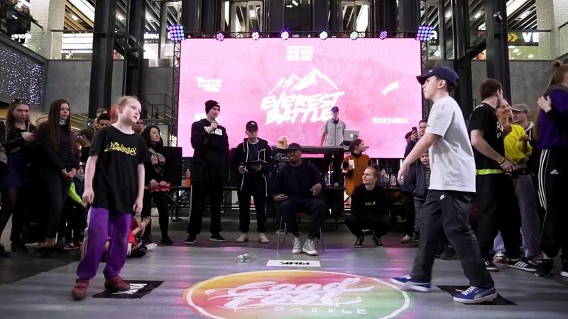 Everest battle 2.0.1.9   Hip-Hop beginners   Semi-Final   Холостов Миша (win) vs Степа