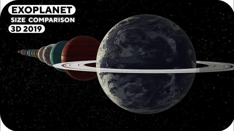 Exoplanet Size Comparison | 3D 2019 🎨