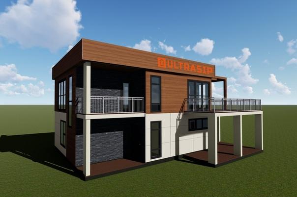Интересный дом #ультрасип_большие_пороги 👌🏻 Планировки, фасады, 3Д-виды: