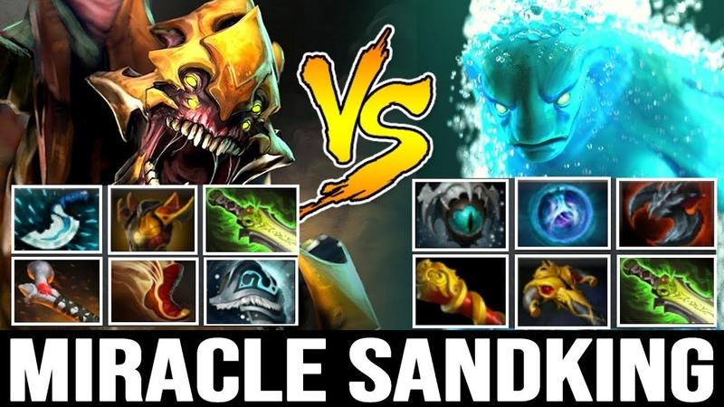 MIRACLE Mid Sand King Super Tank vs 100k Damage Morphling - Epic Game