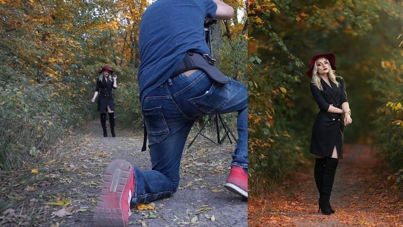 Fall Photoshoot using softbox Triopo 26 inc godox ad400 pro and TT685