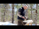 Spring at the Log Cabin | Pancakes with Hot Maple Blueberry Syrup | ASMR