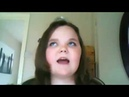 A girl is trying to sing I will always love you by Whitney Houston but keeps failing and gets angry