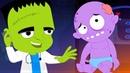 пять маленьких монстров детские стишки дошкольные песни Scary Songs Five little Monsters