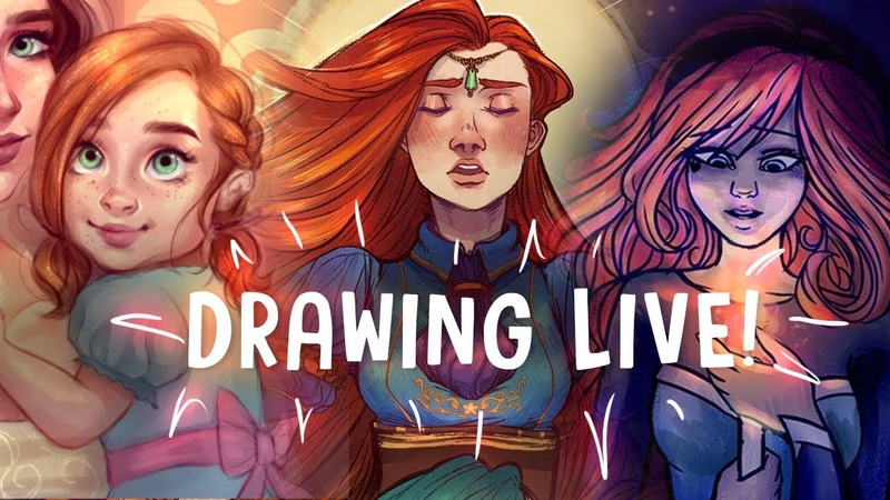 DRAWING LIVE! with CANARY WITCH and ZOË MARRINER | Jenna Drawing