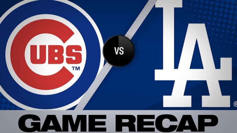 Martin hits go ahead single in 8th for win Cubs Dodgers Game Highlights 6 16 19