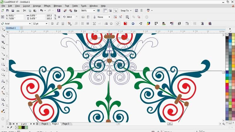 Seamless Pattern 4 in corel draw with cdtfb   coreldraw hindi, urdu