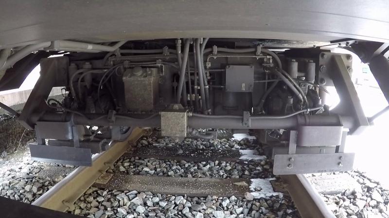 GoPro Тяговая тележка Штадлерского поезда Stadler train traction bogie wheelcam
