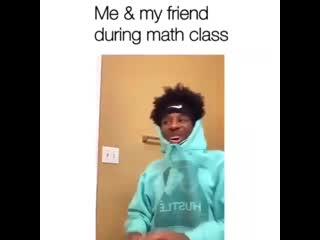 During math class