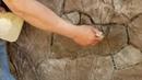 Como hacer piedras planas con cemento y estampa