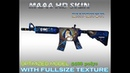 CS:GO M4A4 Emperor HD skin for cs 1.6