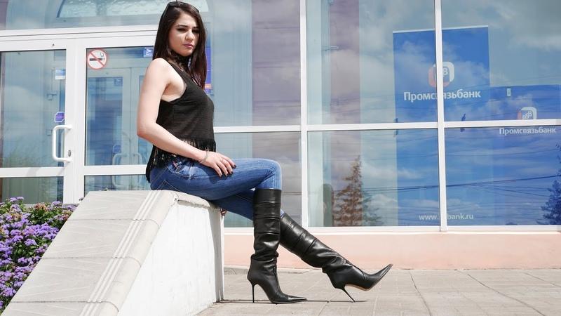 Masha's pointed toe high heels Gianmarco Lorenzi boots Size 36 without zipper
