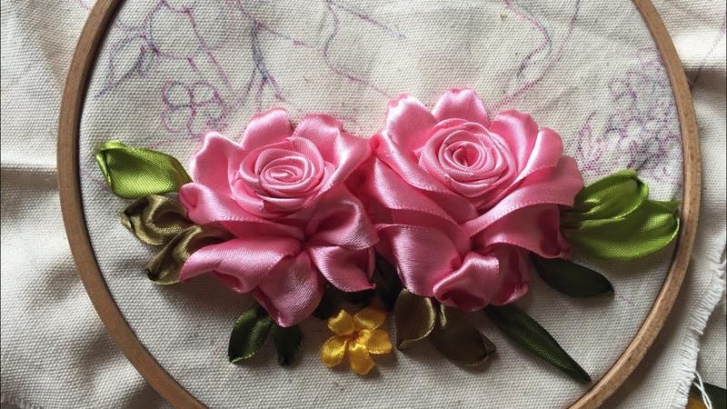 D.I.Y Ribbon Embroidery Roses Hướng dẫn thêu ruy băng hoa hồng