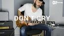 Guns N' Roses - Don't Cry [ Kfir Ochaion Electric Guitar solo cover соло гитара кавер amurproject ]