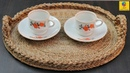 Best Out of Waste Ideas How to Make Serving Tray with Jute Rope Cardboard Jute Rope Craft Idea