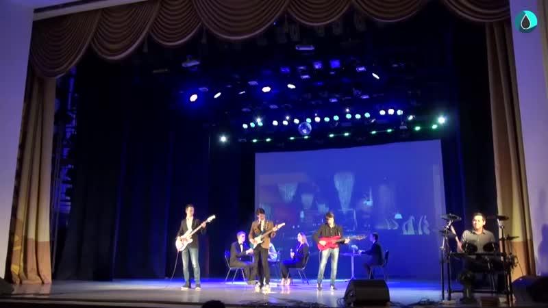 Выступление на сцене ДК Орджоникидзе Уфа студвесна ГНФ УГНТУ 14 03 2019