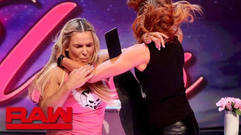 """Natalya and Becky Lynch brawl on A Moment of Bliss"""" Raw Reunion July 22 2019"""