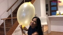 Yellow Balloon 🎈 Blowing and Deflating a Big Balloon | My Biggest Oval Balloon Ever!!