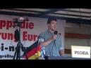 Es ist Jagdzeit es ist Zeit laut zu werden Max von der Identitäre Bewegung PEGIDA DRESDEN 17 6 19