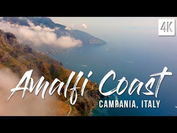 Amalfi Coast, Costiera Amalfitana Italy Positano   4K drone footage, DJI Mavic Air