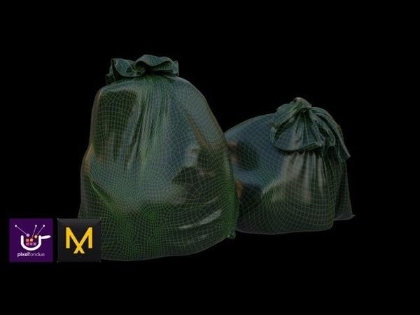 Marvelous Designer Trash Bag