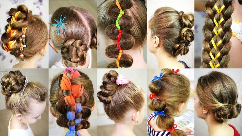 10 cute 5-MINUTES hairstyles for busy morning! Quick Easy SUMMER Hairstyles!