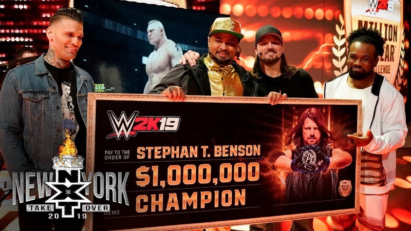 Golden Voice defeats AJ Styles to win $1 million courtesy of WWE 2K NXT TakeOver New York Pre-..