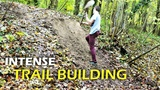 Construction D'un Gros Step Up Trail Building Timelapse