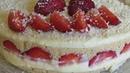 ЛЕТНИЙ Торт Клубничный ПЛОМБИР! БЕЗ ВЫПЕЧКИ Изумительно Красивый и Простой