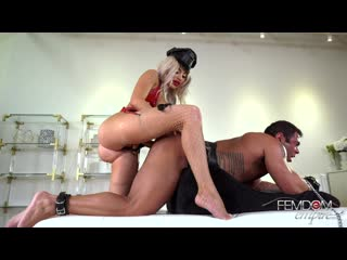 victoria june strap-on daddy [femdom, strap-on, pegging, anal, stockings, chastity]