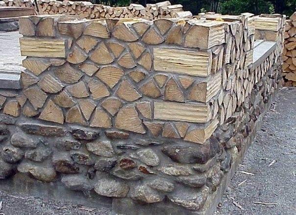 Экологически чистый дом из дров В таком доме в сорокоградусный мороз выжить невозможно, но в качестве летнего, дачного домика, почему бы и нет Количество глины составляет примерно 20% от объема