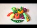 Лепим овощи и фрукты из пластилина Плей До Play Doh / Учим фрукты и овощи