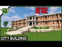 Minecraft Building a City 12 - City Hall and Library and More!
