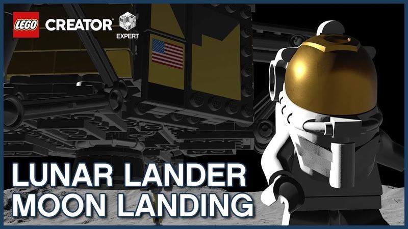 First Lunar Landing Recreated with LEGO Creator Expert