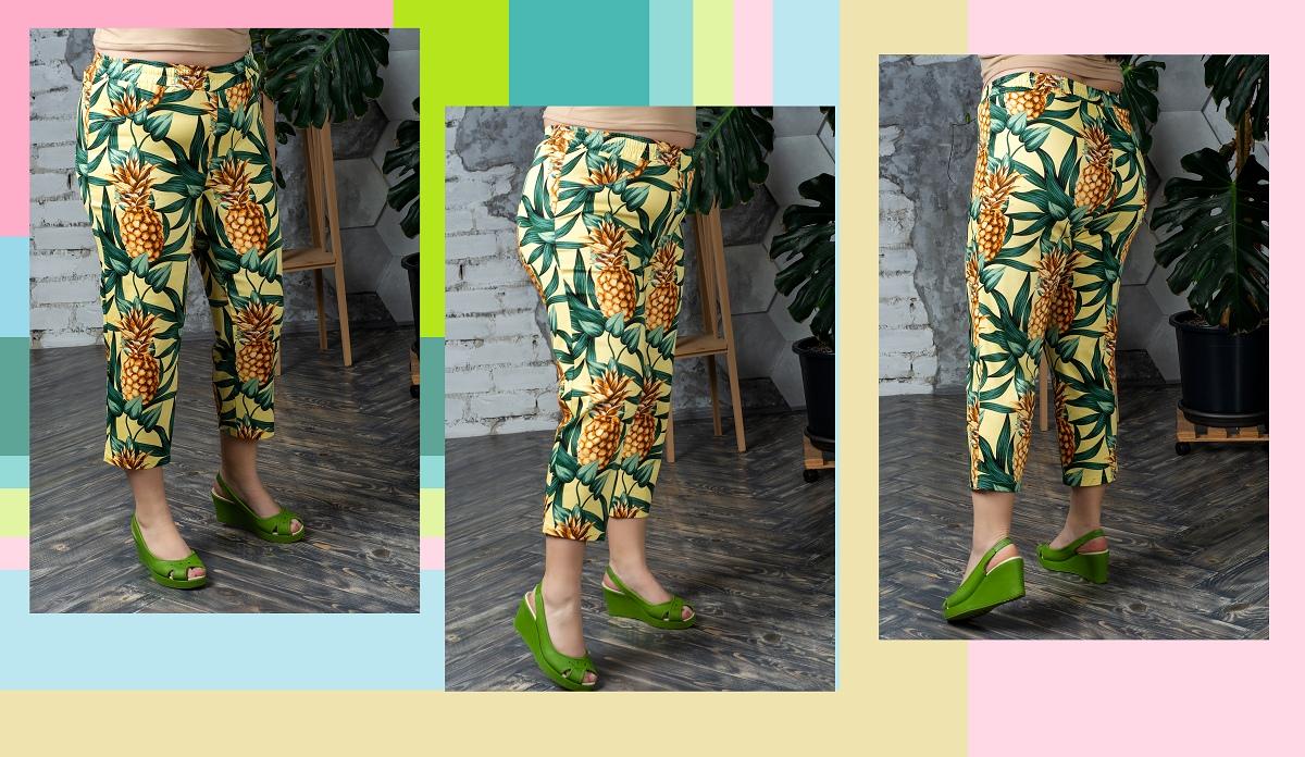 """SIZE+ НОВИНКИ 29.03.19 Укороченные брюки большого размера """"Багамы"""""""
