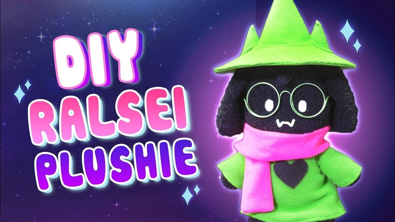 DIY FLUFFY BOY RALSEI Plushie with Moveable Joints! DELTARUNE Sock Plushie (FREE Pattern) Tutorial