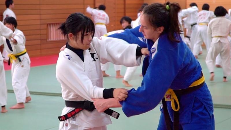 Реальное дзюдо в японской старшей школе Наши спортсмены на сборах в Японии